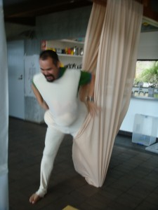 George escaping the cocoon